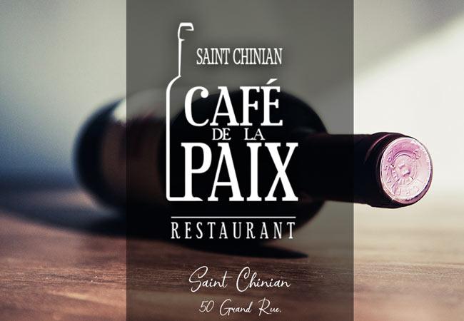Le café de la paix à Saint-Chinian